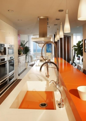 kitchen-cabinets-modern-white-080a-cq008-luxury-absolute-blanc-orange-quartz-bar-countertop