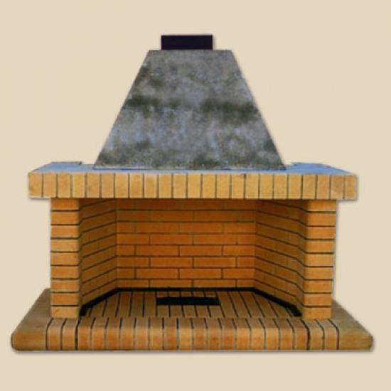 Fireplace with firebricks side corner